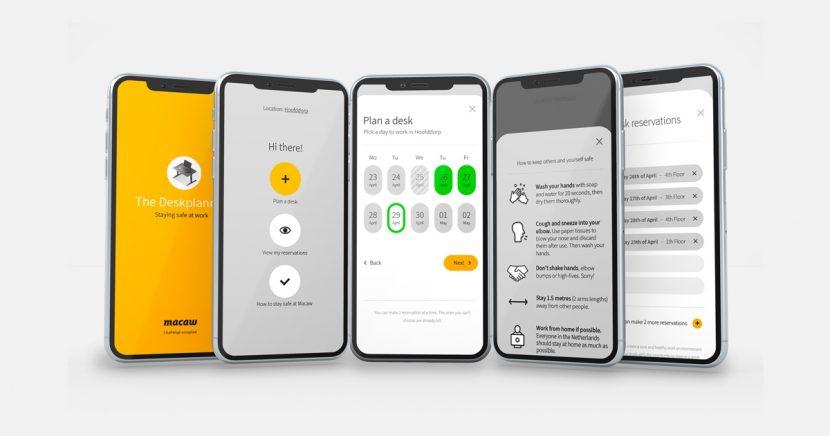 COVID-19 Desk Planner App